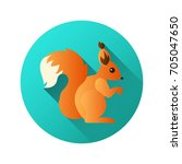 squirrel vector icon against...