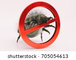 house dust mites no entry   3d... | Shutterstock . vector #705054613