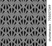 hollow triangles tessellation... | Shutterstock .eps vector #705057349