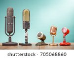 Retro Old Microphones For Pres...