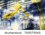 robots in work | Shutterstock . vector #705075043
