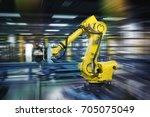 robots in work | Shutterstock . vector #705075049