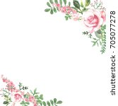 hand made roses background.... | Shutterstock . vector #705077278