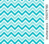zig zag chevron mint green and... | Shutterstock .eps vector #705079780