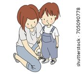 vector illustration of mother...   Shutterstock .eps vector #705090778