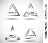 vector hipster triangle... | Shutterstock .eps vector #705091240