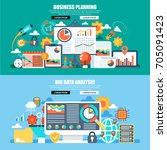 business flat concept web... | Shutterstock .eps vector #705091423
