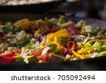 food at the fair in hungary... | Shutterstock . vector #705092494