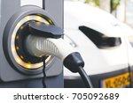 future of automobile. a... | Shutterstock . vector #705092689
