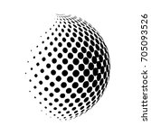 Abstract Globe Dotted Sphere ...