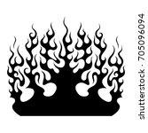 flame car vector. black tribal...   Shutterstock .eps vector #705096094