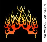 flame tattoo tribal vector... | Shutterstock .eps vector #705096124