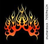 flame icon vector illustration  ... | Shutterstock .eps vector #705096124