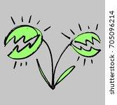 vector picture  carnivorous... | Shutterstock .eps vector #705096214