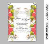 autumn floral wedding... | Shutterstock .eps vector #705098050