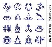 zen icons   | Shutterstock .eps vector #705099943