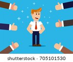 happy and proud businessman... | Shutterstock .eps vector #705101530