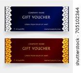 gift vouchers template  gift... | Shutterstock .eps vector #705102364