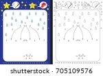 preschool worksheet for... | Shutterstock .eps vector #705109576