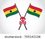 ghana emblem fatality | Shutterstock .eps vector #705142138