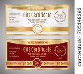 gift certificate  voucher ... | Shutterstock .eps vector #705148363