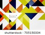 triangle pattern design...   Shutterstock .eps vector #705150334