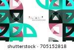 business presentation geometric ... | Shutterstock .eps vector #705152818
