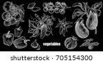 vegetables isolated set.... | Shutterstock .eps vector #705154300