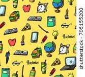 vector illustration of school... | Shutterstock .eps vector #705155200