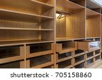 wardrobe with empty drawers and ... | Shutterstock . vector #705158860