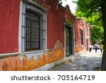 coyoac n suburb in mexico city | Shutterstock . vector #705164719