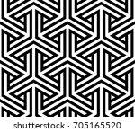 vector geometric pattern.... | Shutterstock .eps vector #705165520