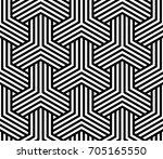 vector geometric pattern.... | Shutterstock .eps vector #705165550