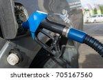 refueling petrol oil in... | Shutterstock . vector #705167560