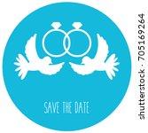 vector flat design wedding... | Shutterstock .eps vector #705169264