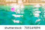 colorful ball toys floating on... | Shutterstock . vector #705169894