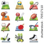 vector sport icon set | Shutterstock .eps vector #70517110