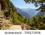 Samaria Gorge Hiking Path On...