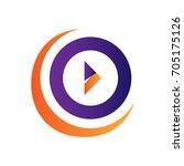elegant play sign  symbol... | Shutterstock .eps vector #705175126