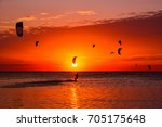 Kite Surfing Against A...