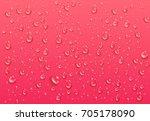 realistic transparent water... | Shutterstock .eps vector #705178090