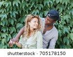 portrait of loving couple... | Shutterstock . vector #705178150