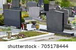 Graves With Grave Stones At A...