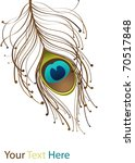 illustration with brown peacock ... | Shutterstock .eps vector #70517848