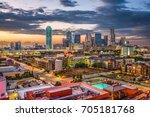 dallas  texas  usa downtown... | Shutterstock . vector #705181768