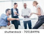 smiling young business... | Shutterstock . vector #705184996