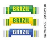 brazil soccer scarf  football... | Shutterstock .eps vector #705189118