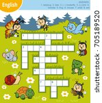 vector colorful crossword in... | Shutterstock .eps vector #705189520