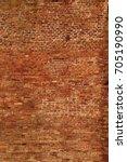 red brick wall texture grunge...   Shutterstock . vector #705190990