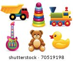 vector toy icons | Shutterstock .eps vector #70519198